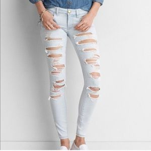 BARELY WORN GREAT CONDITION! Light ripped jeans